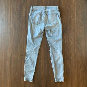 Current/Elliott Jeans - Current/Elliott Distressed Light Denim Jeans